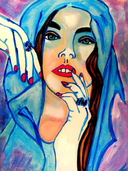 Painting - The Blue Hood by Nikki Dalton
