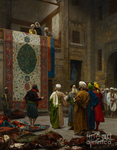 Painting - The Carpet Merchant by Celestial Images
