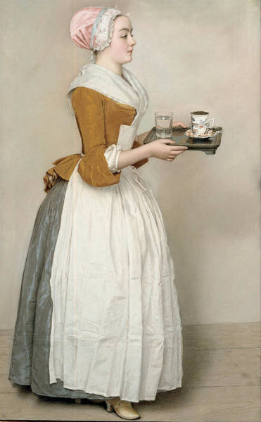 Jean Etienne Liotard Wall Art - Painting - The Chocolate Girl by Jean-Etienne Liotard