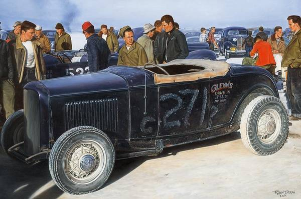Wall Art - Painting - The Frank English Roadster by Ruben Duran
