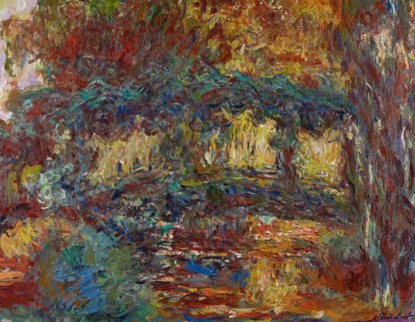 Monet Painting - The Japanese Bridge by Claude Monet