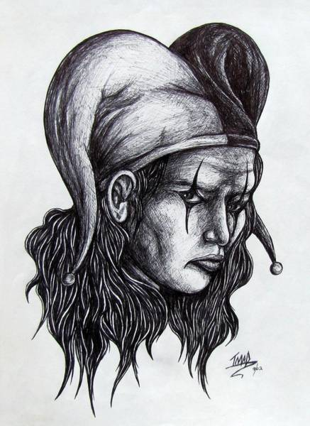 Drawing - The Jester by Michael  TMAD Finney