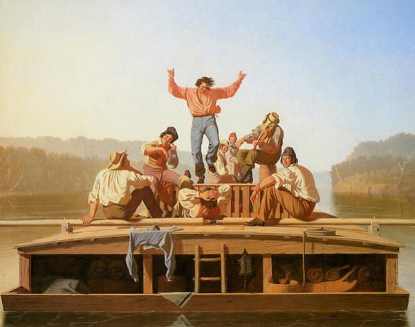Wall Art - Photograph - The Jolly Flatboatmen by George Caleb Bingham