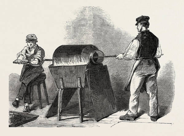 Steel Drawing - The Manufacture Of Steel Pens In Birmingham by English School