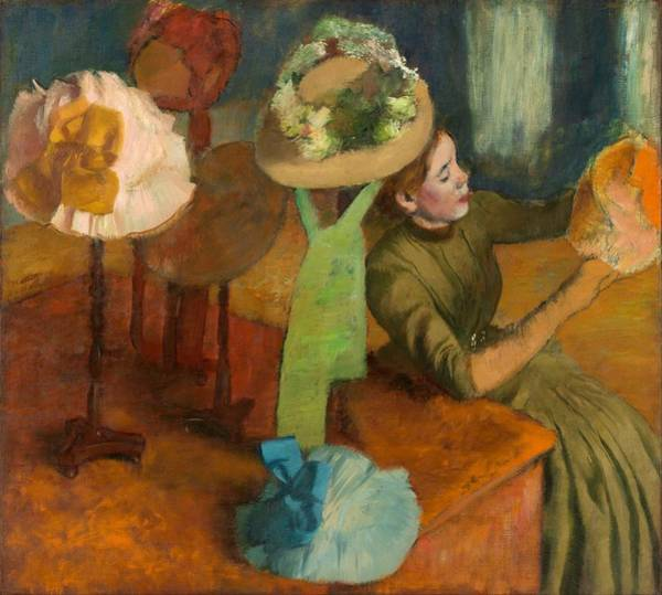 1879 Painting - The Millinery Shop by Edgar Degas