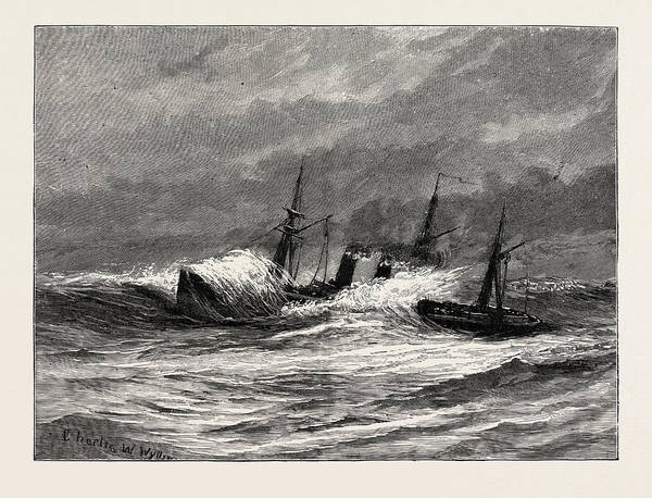 Wall Art - Drawing - The Naval Manoeuvres by English School