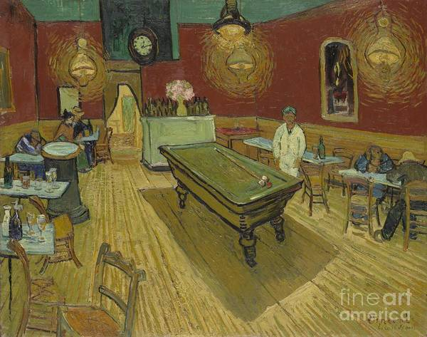 Tavern Painting - The Night Cafe by Vincent Van Gogh
