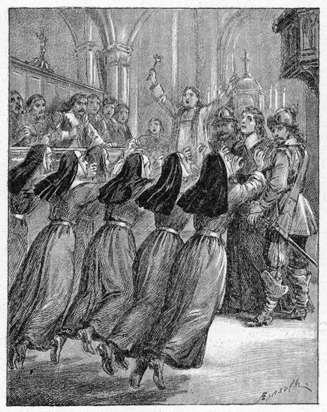 Developed Drawing - The Nuns Of The Convent Of by Mary Evans Picture Library