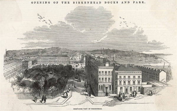 Wall Art - Drawing - The Official Opening Of  Birkenhead by  Illustrated London News Ltd/Mar