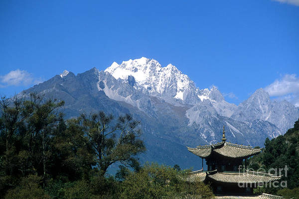 Photograph - Pagoda And Jade Dragon Snow Mountain China by James Brunker