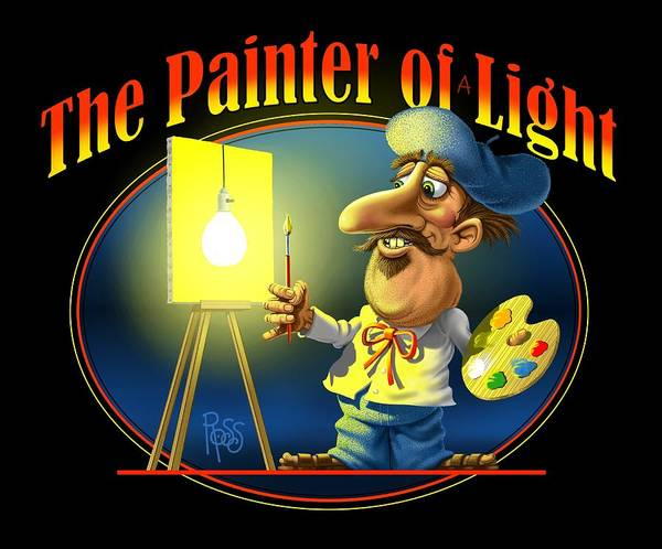 Digital Art - The Painter Of Light by Scott Ross