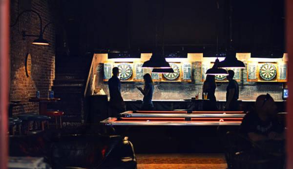 Shadow Digital Art - The Pub by Laura Fasulo