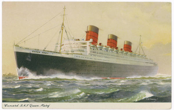 Wall Art - Drawing - The Queen Mary, Cunard White Star Liner by Mary Evans Picture Library