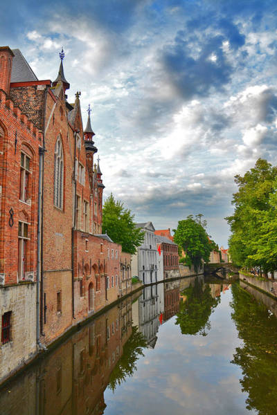 Gleeson Photograph - The Quiet Waters Of The Canals Of Bruges by Andy Za