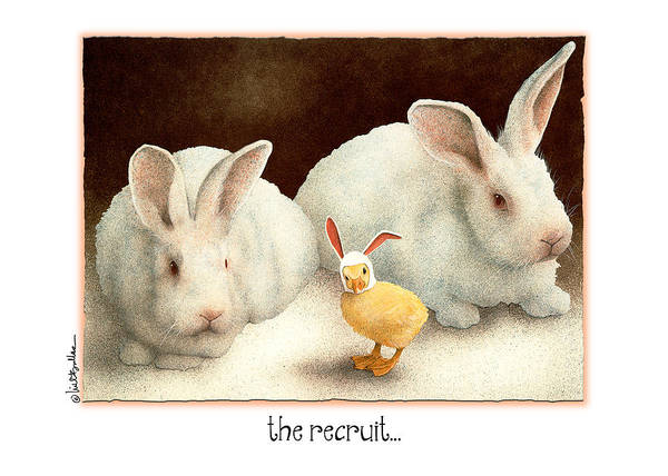 Chick Painting - The Recruit... by Will Bullas