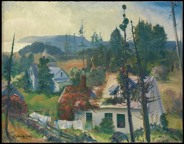 Central America Painting - The Red Vine, Matinicus Island, Maine by George Bellows