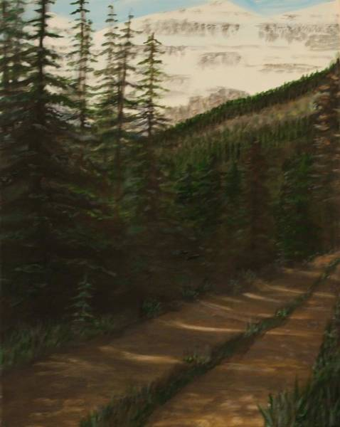 Nature Knows Best Wall Art - Painting - The Road Less Taken. by Larry E Lamb