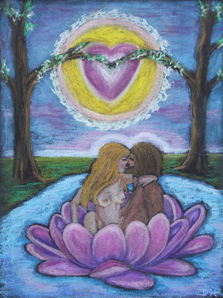 Pastel - The Sacred Marriage by Diana Haronis