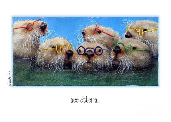 Bullis Painting - The See Otters... by Will Bullas
