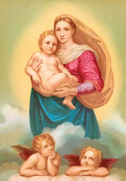 Lithography Wall Art - Painting - The Sistine Madonna by Raphael