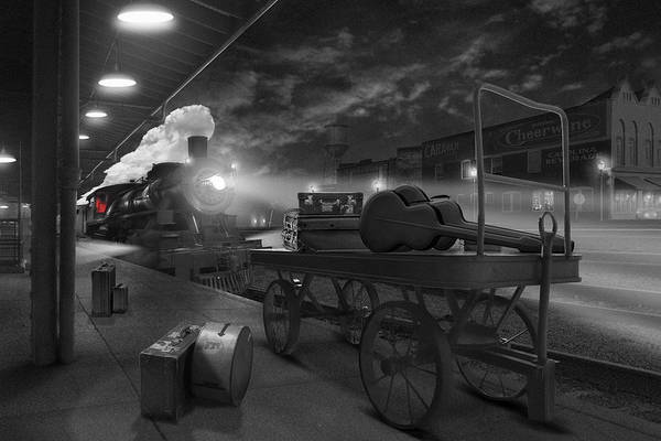 Steam Locomotives Photograph - The Station by Mike McGlothlen