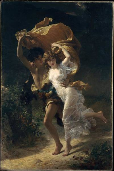 Wall Art - Painting - The Storm by Pierre Auguste Cot