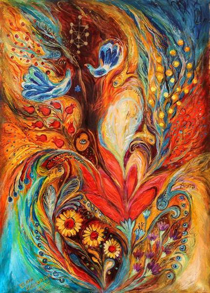 Kabbalistic Wall Art - Painting - The Tree Of Life by Elena Kotliarker