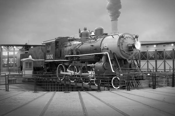 Steam Engine Photograph - The Turntable by Mike McGlothlen
