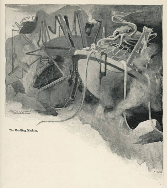 Wall Art - Drawing - 'the War Of The Worlds'  The Martian by Mary Evans Picture Library