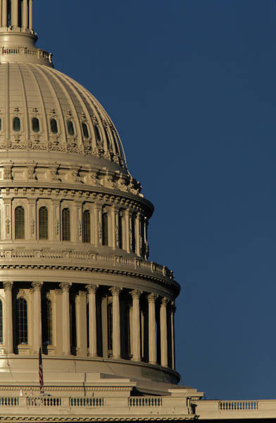 Capitol Building Photograph - The West Side Of The United States by Dennis Brack