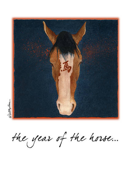Signs Of The Zodiac Painting - The Year Of The Horse... by Will Bullas