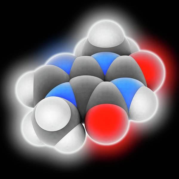 Wall Art - Photograph - Theobromine Molecule by Laguna Design