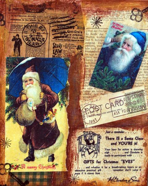 Mixed Media - There Is A Santa Claus by Lora Mercado