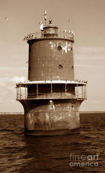 Virginia Lighthouse Photograph - Thimble Shoal Lighthouse by Skip Willits