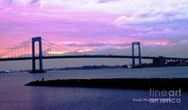 Jetti Wall Art - Photograph - Throgs Neck Bridge by Freda Sbordoni