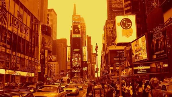 42nd Street And Times Square Manhattan Art Print