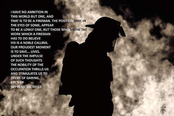 Photograph - To Be A Fireman by Jim Lepard
