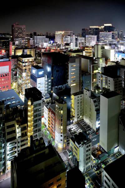 Ginza Wall Art - Photograph - Tokyo Cityscape At Night by Vladimir Zakharov