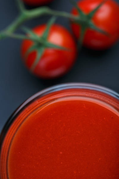 Cherry Photograph - Tomato Juice by Nailia Schwarz