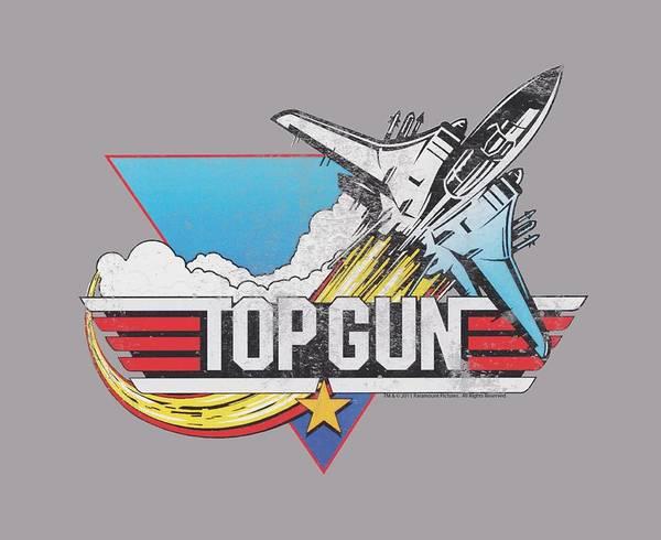 Goose Digital Art - Top Gun - Distressed Logo by Brand A