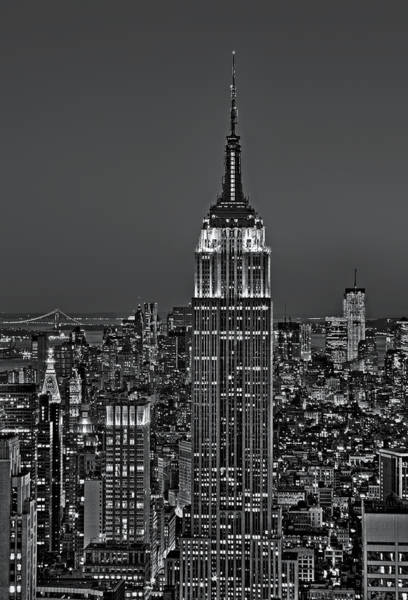 Photograph - Top Of The Rock Bw by Susan Candelario