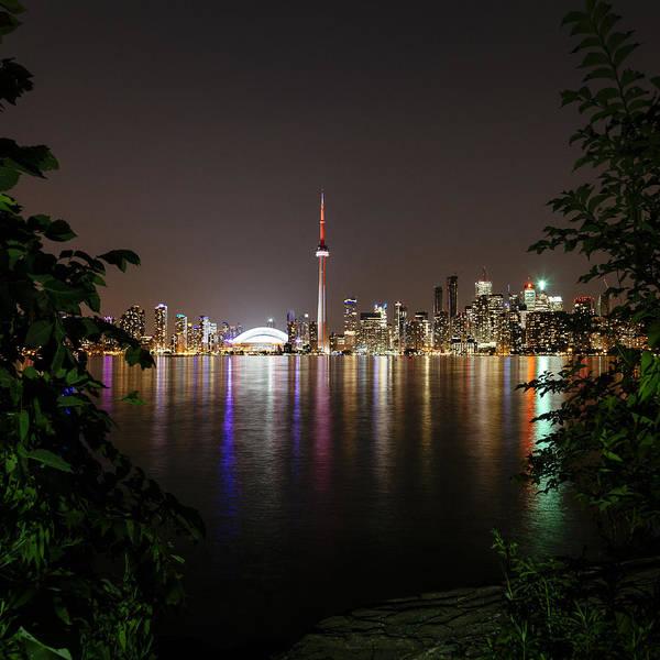 Toronto Blue Jays Photograph - Toronto Skyline At Night by Laura Tucker