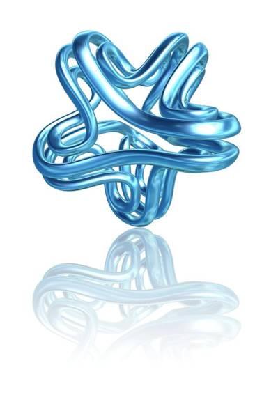 3d Model Photograph - Torus Knot by Pasieka