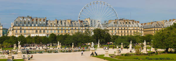 Jardin Des Tuileries Photograph - Tourists In A Garden, Jardin De by Panoramic Images