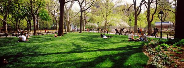 Washington Square Park Wall Art - Photograph - Tourists In A Park, Washington Square by Panoramic Images