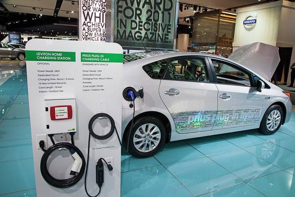 Plug-in Photograph - Toyota Prius Electric Car by Jim West
