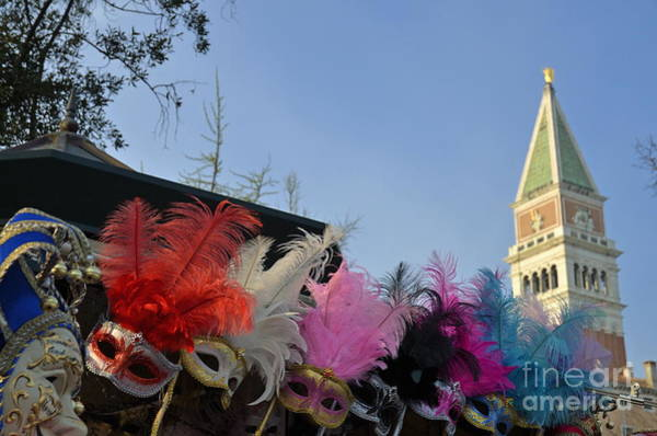 Wall Art - Photograph - Traditional Venetian Masks With Feathers  by Sami Sarkis