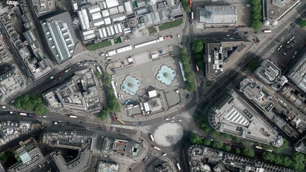 Trafalgar Photograph - Trafalgar Square by Getmapping Plc
