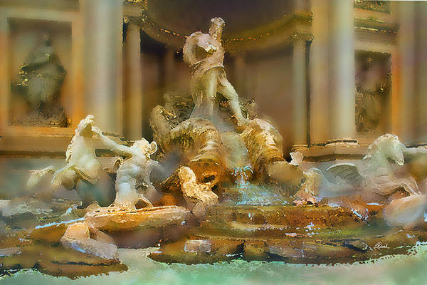 Trevi Fountain Digital Art - Trevi Fountain by Bill Quick