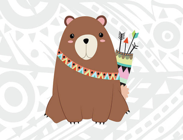 Wall Art - Painting - Tribal Bear by Tamara Robinson